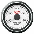 SAAS SG-WT52W Water Temp Gauge 55mm - White