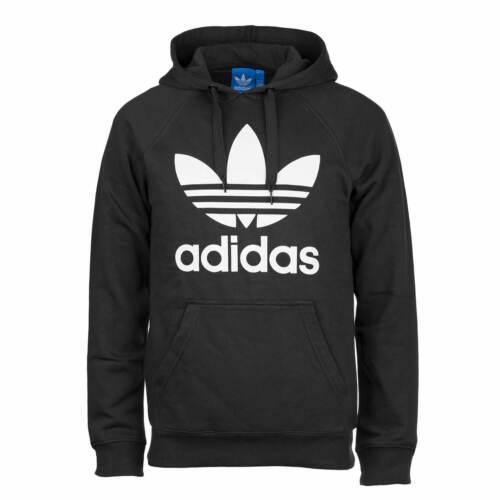 Felpa Logo nero cappuccio cappuccio Felpa Felpa uomo bianco da Print Adidas in e con Originals con con cappuccio r1qZwra