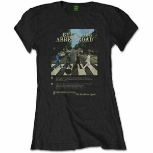 THE-BEATLES-Abbey-Road-8-Track-Ladies-T-Shirt-Tee-Official-Licensed-Band-Merch