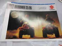 Suzuki Quadrunner 125 185 Sales Brochure 1987 Tri Fold