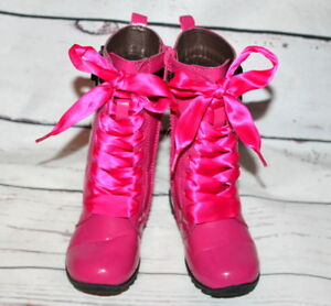 L'Amour Hot Pink Patent Leather Lace-up
