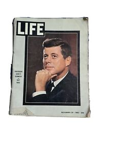 Vintage Life Magazine November 29th 1963 President John F. Kennedy