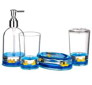 bath bath accessory sets see more premier housewares 4pc bathroom