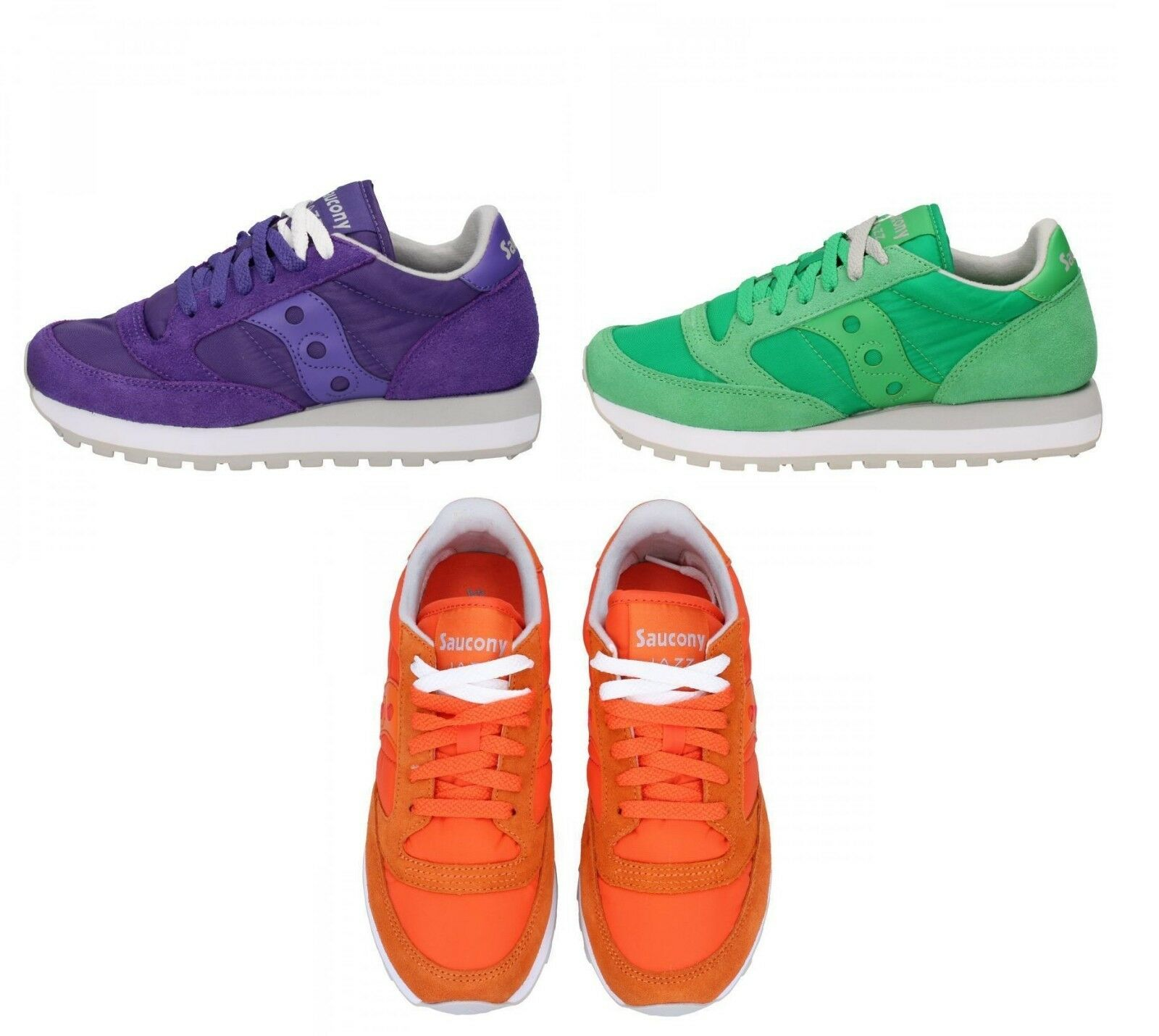 SAUCONY Jazz scarpe donna camoscio Baskets tessuto camoscio donna viola verde arancione aabec2