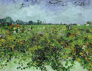 Van-Gogh-The-Green-Vineyard-Giclee-Poster-Print-on-Canvas-Home-Decor-Small-8x10