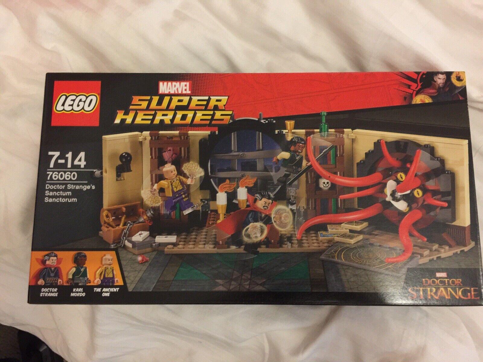 Lego Marvel Superheroes 76060 Dr Strange's Sanctum Sanctgoldm New Sealed Retired
