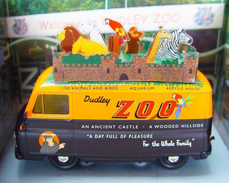Corgi Toys 1 43 MORRIS J2 VAN DUDLEY ZOO Special Anniversary Model Car MIB`07