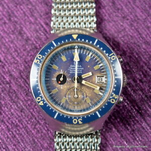 Big Blue Auto >> Details About Omega Seamaster 120 176 004 Big Blue Cal 1040 44mm Tropical Auto Chrono Diver