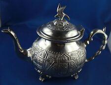 Teekanne Kanne Arabien versilbert schwere Qualität