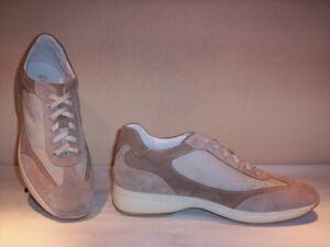 Melluso-scarpe-sportive-sneakers-casual-traspiranti-uomo-pelle-camoscio-beige-42