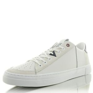 Details zu HUB FOOTWEAR Tournament M LeatherMeshl. whtbluewht