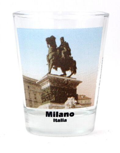 MILAN ITALY MONUMENT COLOR PHOTO SHOT GLASS SHOTGLASS