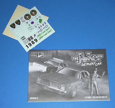 MPC 1977 DODGE MONACO /'THE JOKER GETAWAY CAR/' 1//25 SCALE MODEL KIT