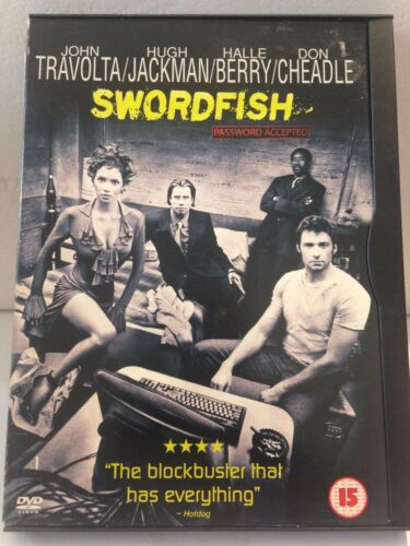 1 of 1 - SWORDFISH - PASSWORD ACCEPTED - JOHN TRAVOLTA (R2 - VERY GOOD) - DVD #231