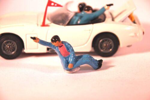 Reproduction-Painted Corgi 336 James Bond Toyota James Bond Firing Figure