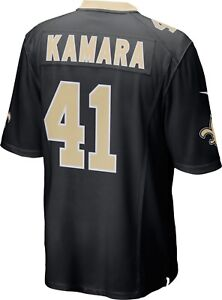 check out f5c65 66e3d Details about ALVIN KAMARA Jersey #41 New Orleans Saints Nike Jersey Black  YOUTH Medium NWT