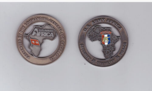 US Army Africa Security Stability Peace Service Coin Superselten !!!!!