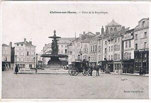 C6837 - Une Carte Postale Ancienne CHÂLONS-SUR-MARNE Place de la République | eBay