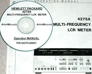 Książki i instrukcje HP Hewlett Packard 4275A Mulitfrequency LCR Meter Operating Manual Elektronika i technika pomiarowa