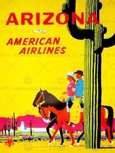 ARIZONA-USA-AIR-FLY-DESERT-CACTUS-COWBOY-HORSE-COWGIRL-ART-PRINT-POSTER-BB9825