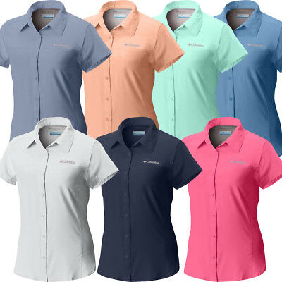 "New Womens Columbia /""Meadowgate/"" Omni-Shade Vented Short Sleeve Shirt"