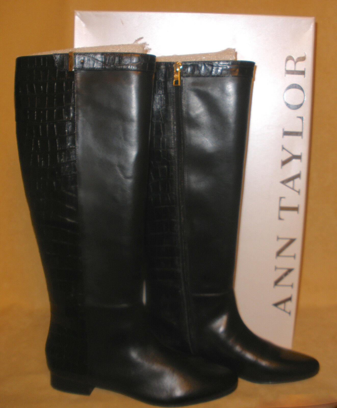 Ann Taylor Black Jorja Riding Boot - New in Box Size 8 (run small like a 7)