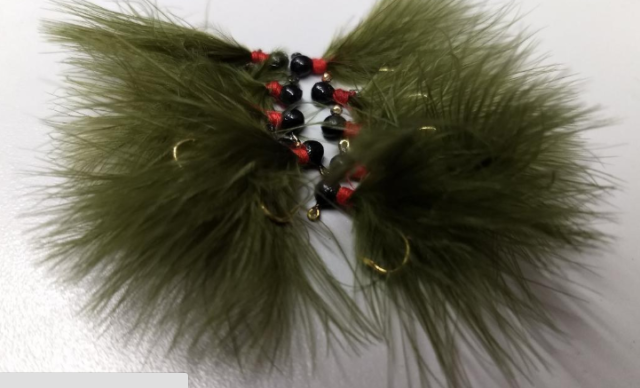 12 HAND TIED MARABOU JIGS TROUT STEELHEAD CRAPPIE 1//32 oz YELLOW on card
