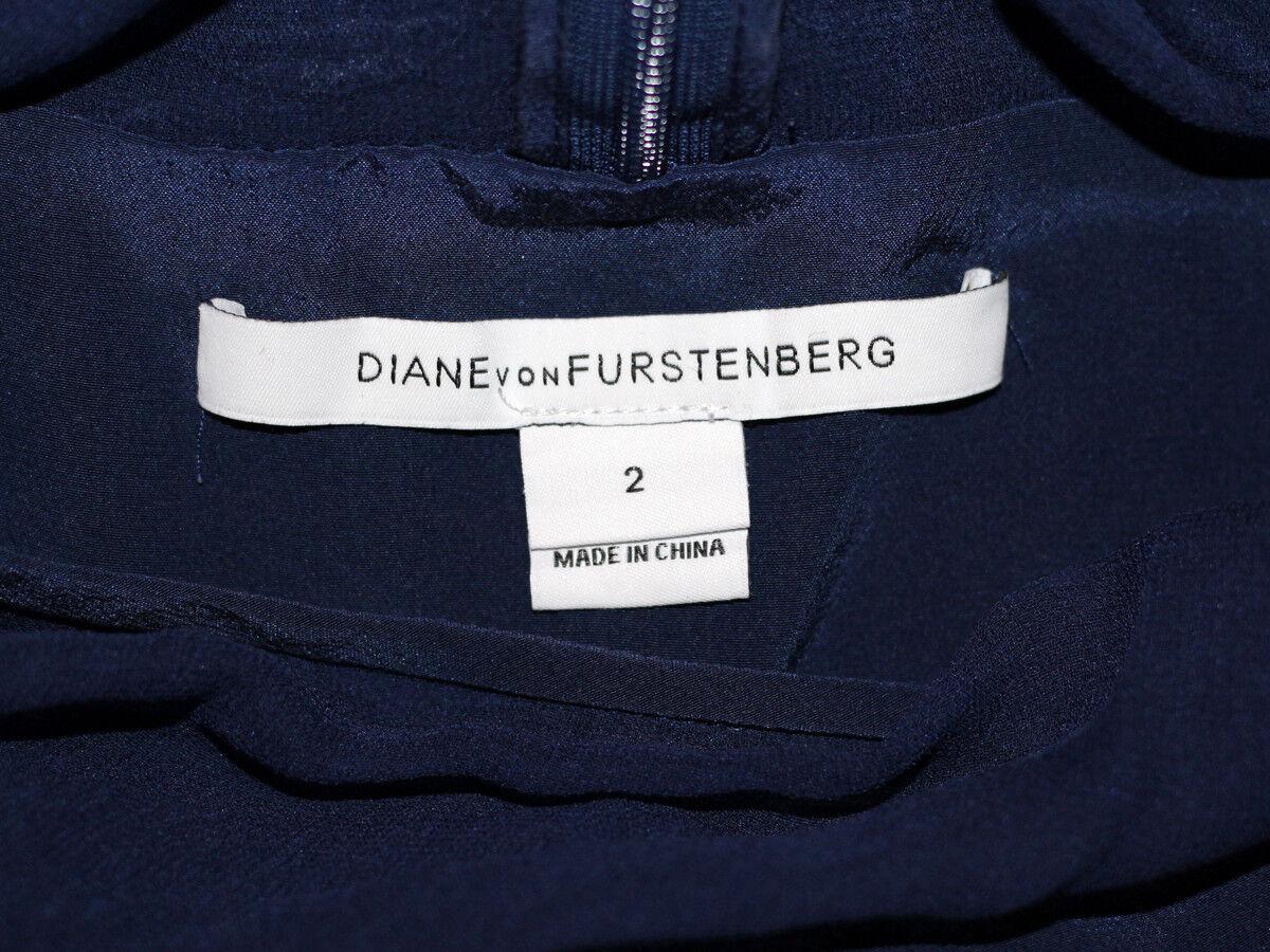 DIANA VON FURSTENBERG BLUE SILK LACE DRESS SIZE U… - image 9
