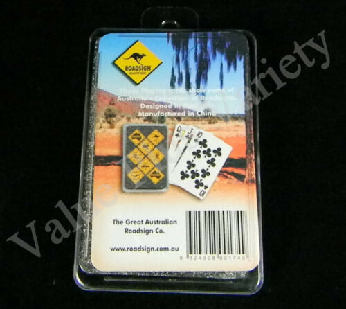 Australian Made Souvenir Roadsign Australia Fauna Animals Deck Playing Cards