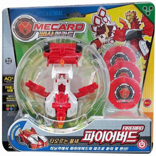 Pasha Mecard FIRE Bird Firebird Mecanimal Transforming Car Toy Pop Up on Card