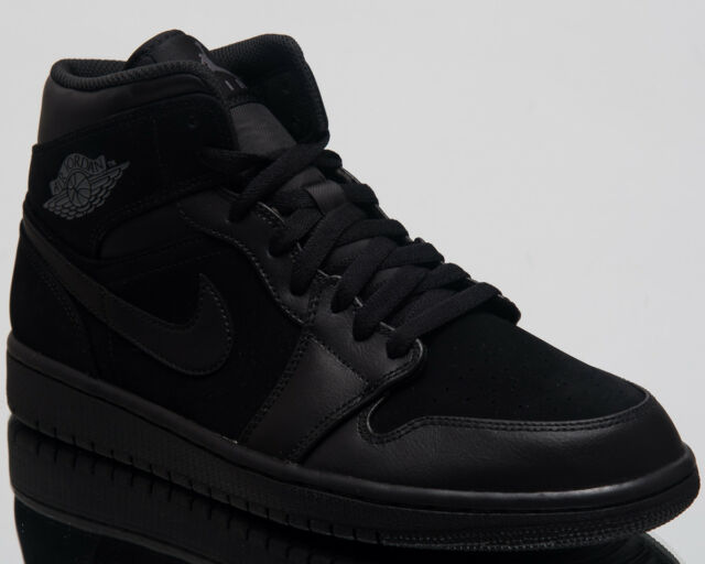 5a700ae2c16 Air Jordan 1 Mid Lifestyle Shoes Black Dark Grey 2018 Sneakers 554724-050