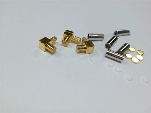 10PCS copper MCX male right angle RF Connector crimp for RG174 RG316 RG178 Cable