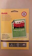 "Kodak Magnetic Photo Paper 5 sheets Gloss 6 x 4""  / 4R / 102 x 152mm BRAND NEW"
