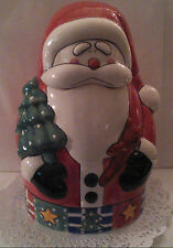 "NEW Santa Claus Face/Body Christmas Cookie Jar Ceramic,12""Tall~Base 6 3/4""(wide)"