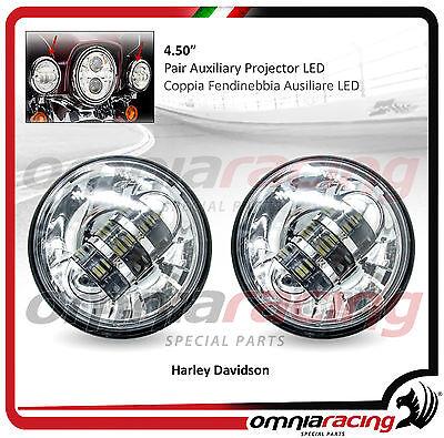 """Coppia Supplementari Fari LED Omologati 4.50"""" Harley Touring - Fog Front LED"""