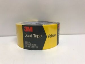 """3M 3920-YL Duct Tape, Yellow, 1.88"""" x 20-Yd. - Quantity 1 Free Shipping"""