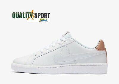 Nike Court Royale Bianco Oro Rosa Scarpe Donna Sportive Sneakers 749867 116 2020   eBay