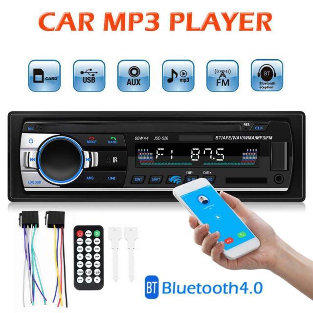 6X Bluetooth 1 DIN In-Dash Car Stereo Audio MP3 Player FM Radio Input Receiver B