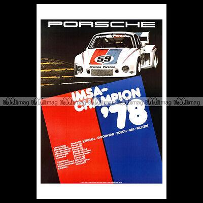 #phpb.001985 Photo Porsche 935 Imsa-champion 1978 Advert Reprint Om Te Genieten Van Een Hoge Reputatie Op De Internationale Markt