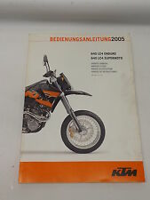 KTM 32114792004 2005 640 LC4 ENDURO / SUPERMOTO OWNERS HANDBOOK