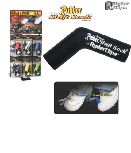 Motorcycle Rubber Shift Sock Shift Cover Boot Shoe BLACK Protector Buell Harley