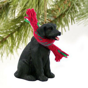 image is loading lab labrador retriever black dog christmas ornament holiday - Black Lab Christmas Ornament