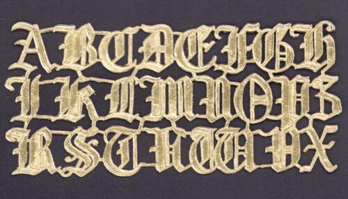 DRESDEN ORNAMENTS alte Dresdner Pappe Schrift Alphabet Buchstaben Lettern