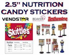 25 X 25 Bulk Vending Label Candy Machine Sticker Gumball Skittles