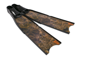 Leaderfins Brown Camo Freediving and Spearfishing Fins