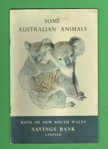 #D470. 1959 SOME AUSTRALIAN ANIMALS BOOKLET BANK OF NEW SOUTH WALES