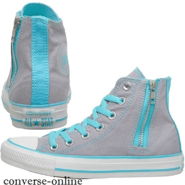 69836ef08993 Women s Girls CONVERSE All Star GREY HIGH TOP Trainers Boots SIZE UK 3