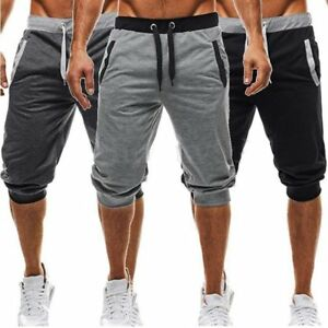 Men-039-s-Summer-Joggers-Training-Casual-Sport-Fitness-Gym-Shorts-Workout-Sweatpants