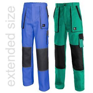 WORK-TROUSERS-LONG-LEG-Mens-Pants-Painters-Blue-Green