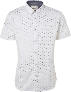 No Excess Men's Shirt short Sleeves Stretch White New